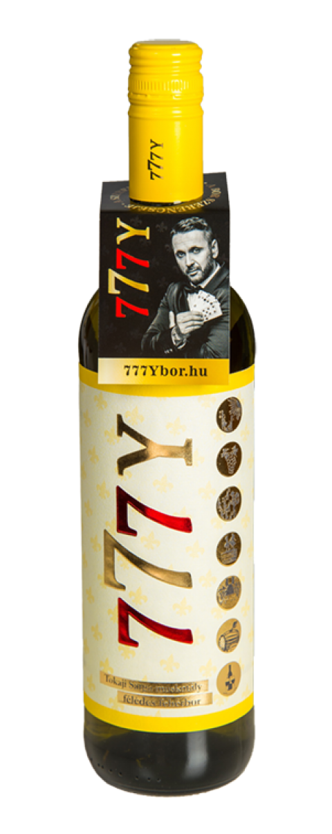Tokaji sárga muskotály félédes fehérbor